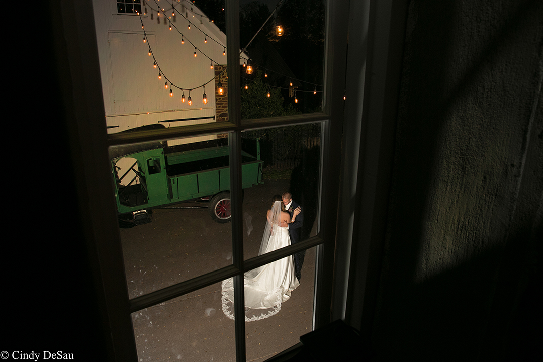 A Slow Dance Photographed From Above Inside The Barn Looking Out Onto Courtyard